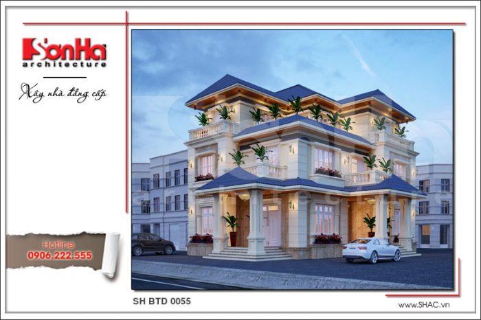 Kiến trúc nhà biệt thự hiện đại 3 tầng tạo thiện cảm bởi sử dụng các gam màu hợp thời