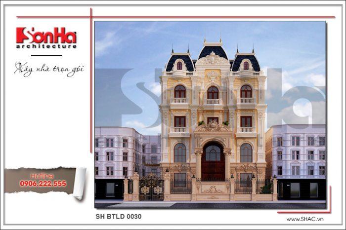 Mẫu biệt thự cổ 5 tầng đẹp tại Hà Nội khẳng định vị thế và gu thẩm mỹ của chủ đầu tư