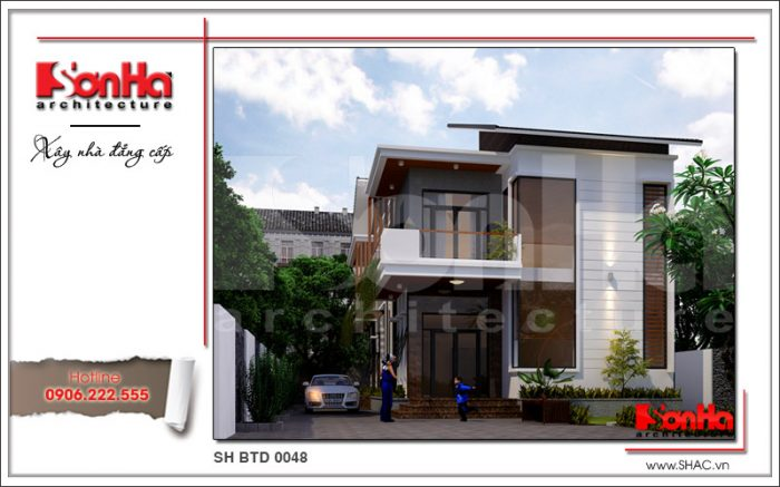 Mẫu biệt thự hiện đại 2 tầng thiết kế giản nhưng có chiều sâu và dễ dàng tạo thiện cảm