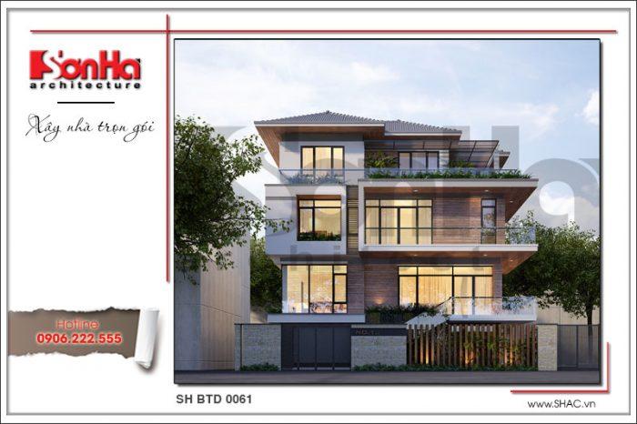 Mẫu nhà mới 4 tầng phong cách hiện đại được yêu thích và đánh giá cao tại Thanh Hóa