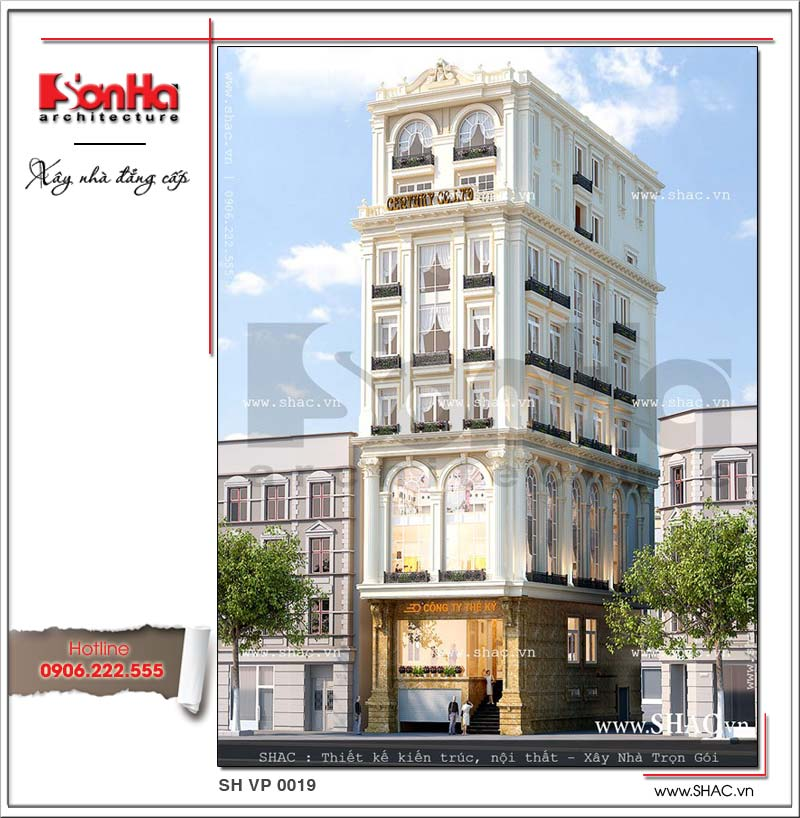 Mẫu thiết kế được đánh giá cao từ bộ sưu tập tòa nhà văn phòng cổ điển sang trọng tinh tế