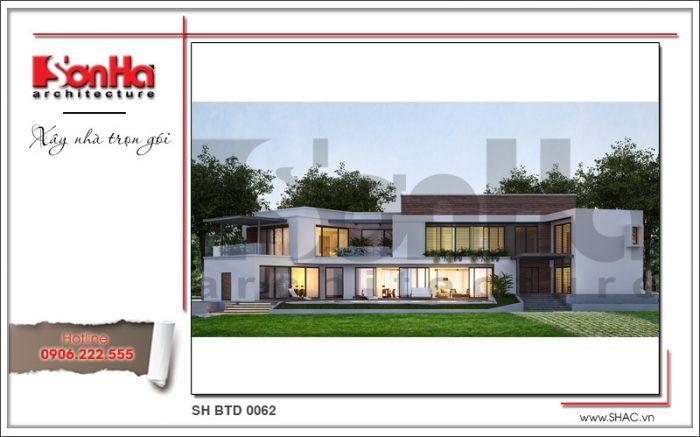 Mẫu thiết kế kiến trúc biệt thự hiện đại mặt tiền khang trang khẳng định đẳng cấp cuộc sống
