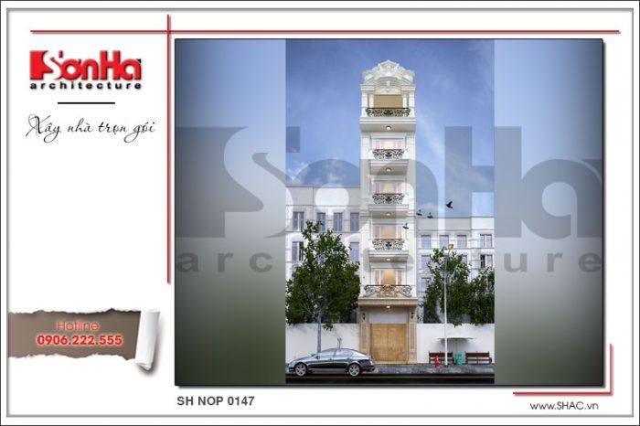 Mẫu thiết kế kiến trúc nhà ống phong cách cổ điển pháp tại Sài Gòn nổi bật của SHAC uy tín