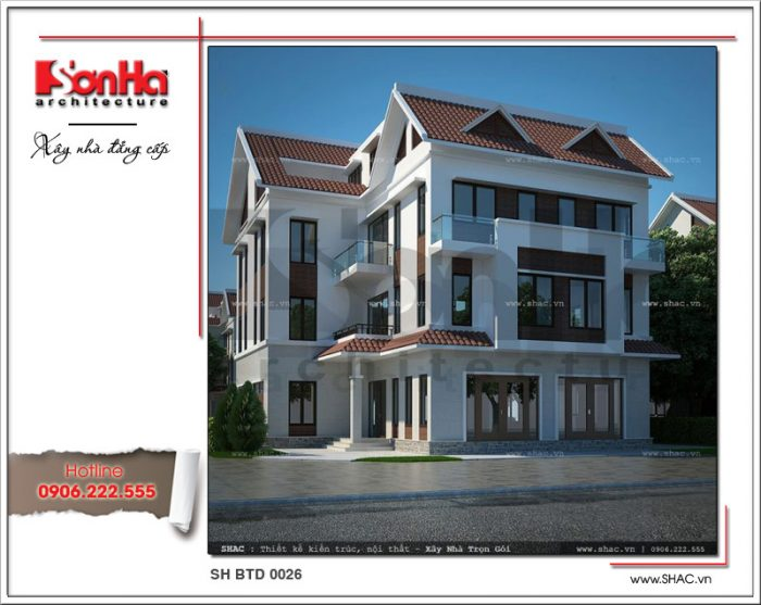 Phương án thiết kế được đánh giá cao của mẫu biệt thự phố 4 tầng kiến trúc hiện đại
