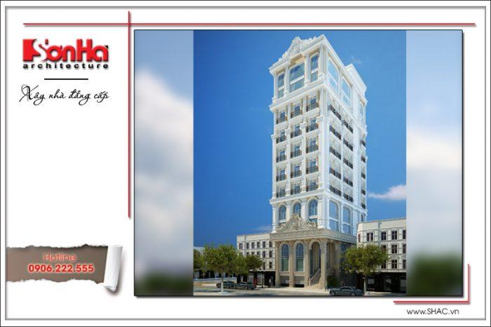 Phương án thiết kế được đánh giá cao của tòa nhà văn phòng phong cách cổ điển sang trọng