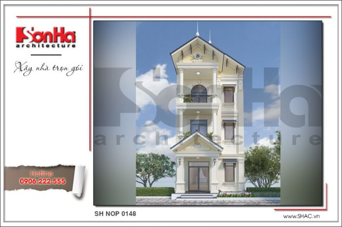 Phương án thiết kế kiến trúc khang trang và thanh nhã của ngôi nhà ống tân cổ điển pháp