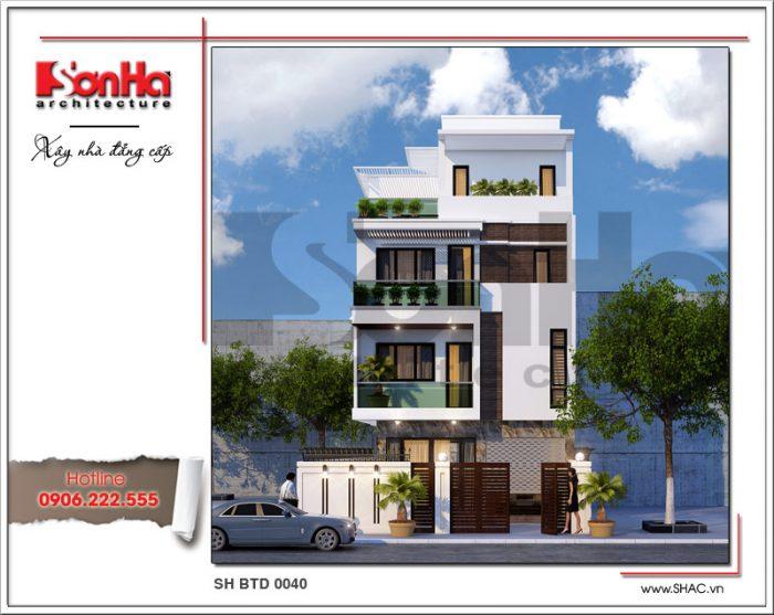 Phương án thiết kế mẫu biệt thự 4 tầng hiện đại đẹp và sang trọng đến từng tiểu tiết