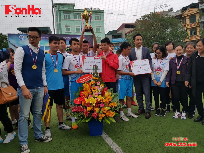 Sơn Hà Architecture hân hạnh đồng hành cùng Giải bóng đá sinh viên khoa Kiến trúc (Viện Đại học Mở) 2