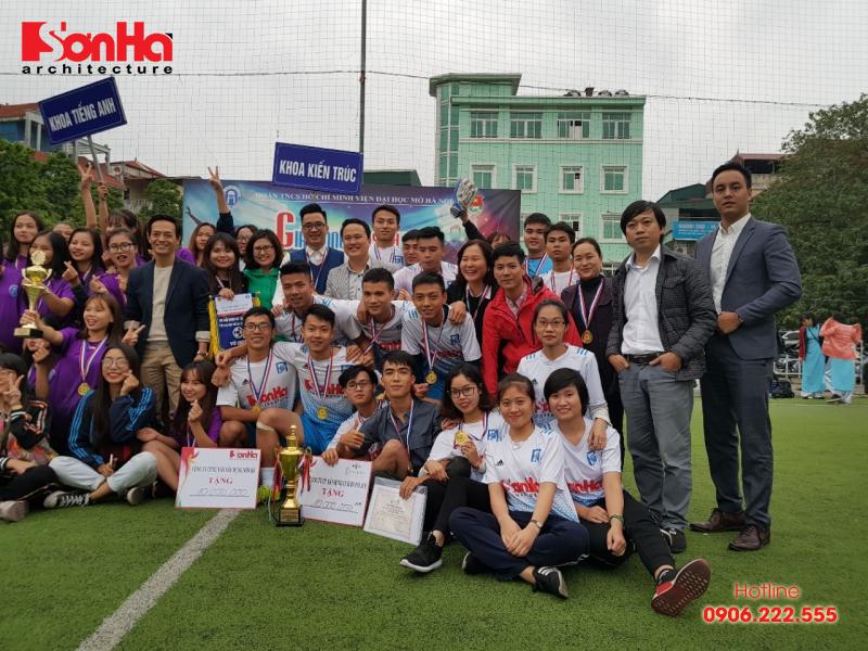 Sơn Hà Architecture hân hạnh đồng hành cùng Giải bóng đá sinh viên khoa Kiến trúc (Viện Đại học Mở) 1