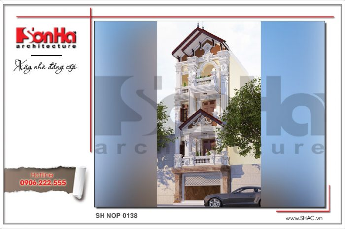 Thiết kế đẹp mắt của mẫu nhà ống kiểu pháp cổ điển tại Hà Nội mang thương hiệu SHAC
