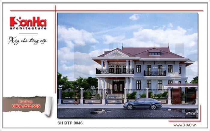 Thiết kế đẹp mắt của ngôi biệt thự 2 tầng tân cổ điển được yêu thích và đánh giá cao