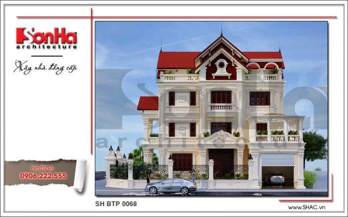 Thiết kế đẹp mắt của ngôi biệt thự 4 tầng kiến trúc pháp được yêu thích và đánh giá cao