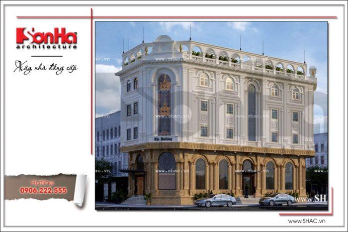 Ví dụ tham khảo thiết thực của hình ảnh tòa nhà văn phòng cổ điển thương hiệu SHAC uy tín