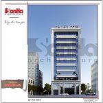 1 Thiết kế kiến trúc mặt tiền phương án 1 khách sạn đẹp tại hải phòng sh ks 0049