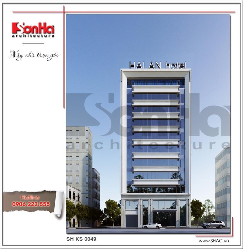 Mẫu khách sạn tiêu chuẩn 3 sao sang trọng hiện đại bậc nhất Hải Phòng – SH KS 0049 3