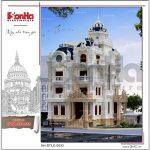 1 Thiết kế kiến trúc phương án 1 biệt thự lâu đài cổ điển tại sài gòn sh btld 0033