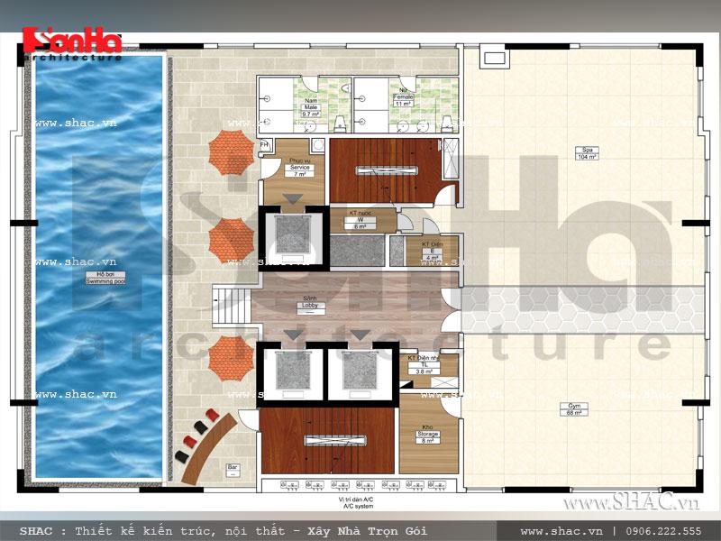 Mẫu khách sạn tiêu chuẩn 3 sao sang trọng hiện đại bậc nhất Hải Phòng – SH KS 0049 12
