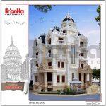 2 Mẫu kiến trúc phương án 1 biệt thự lâu đài đẹp tại sài gòn sh btld 0033