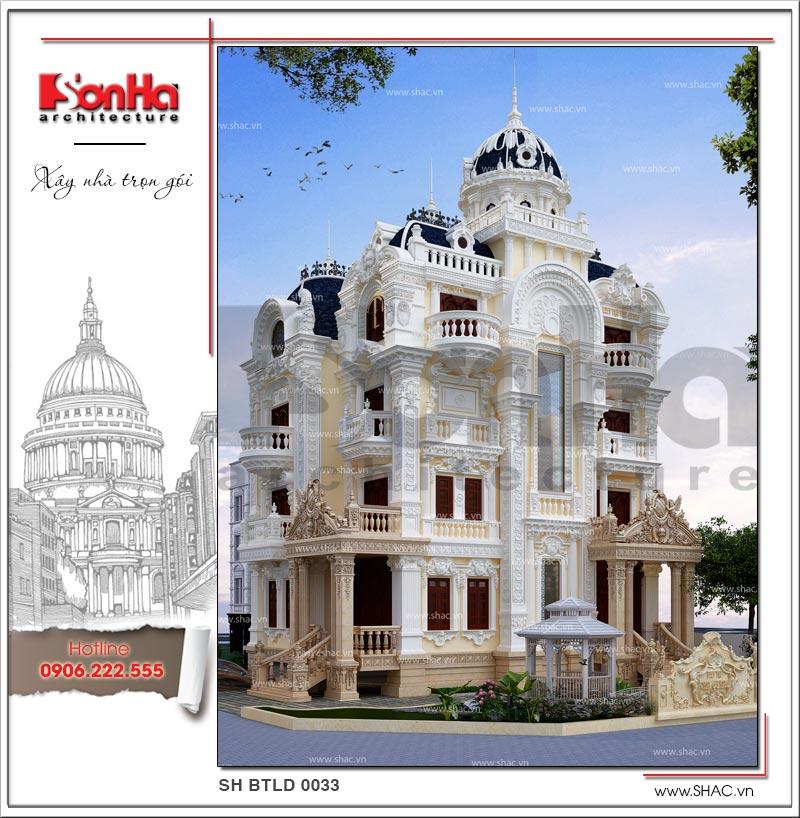 Tròn mắt với biệt thự lâu đài cổ điển xa hoa 4 tầng tại Sài Gòn – SH BTLD 0033 2