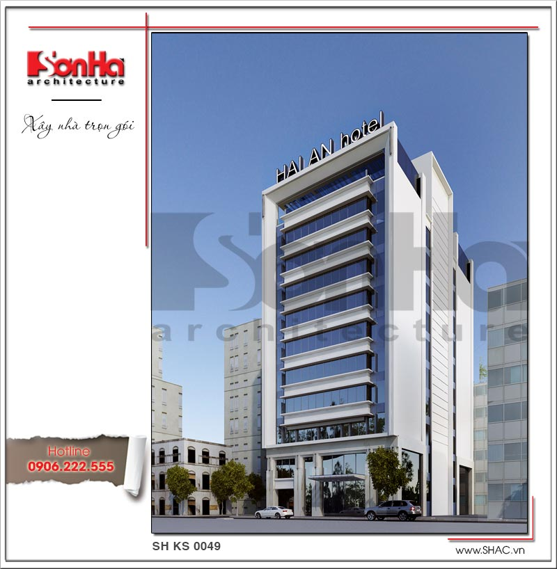 Mẫu khách sạn tiêu chuẩn 3 sao sang trọng hiện đại bậc nhất Hải Phòng – SH KS 0049 4