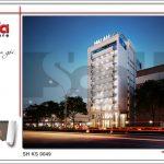 3 Phối cảnh kiến trúc ban đêm phương án 1 khách sạn đẹp tại hải phòng sh ks 0049