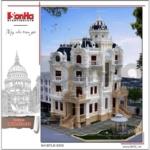 3 Thiết kế phương án 1 kiến trúc biệt thự lâu đài cổ điển tại sài gòn sh btld 0033