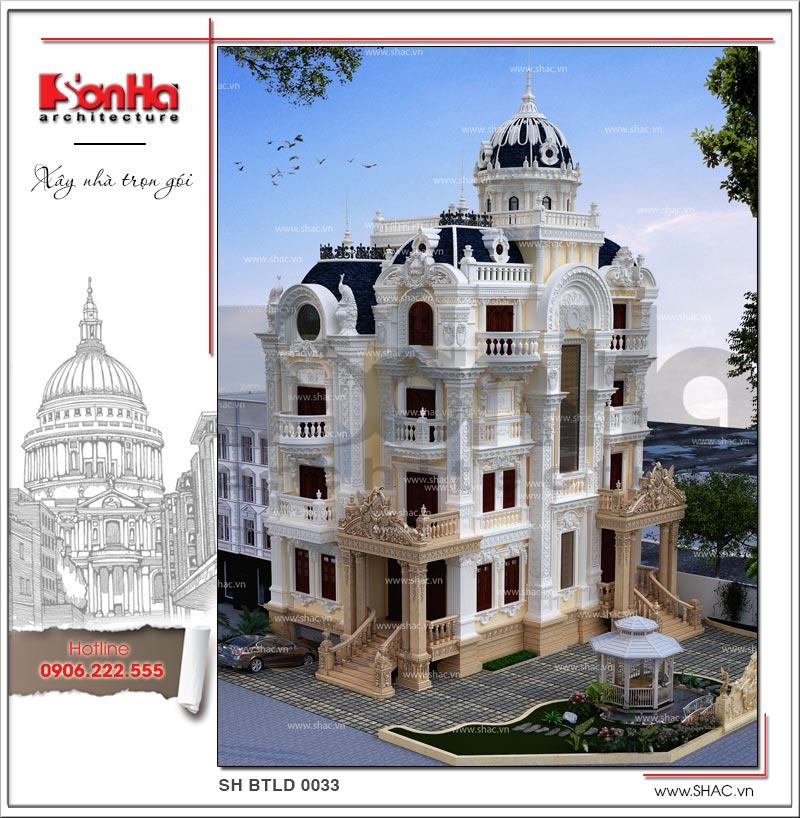 Tròn mắt với biệt thự lâu đài cổ điển xa hoa 4 tầng tại Sài Gòn – SH BTLD 0033 3