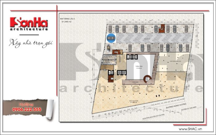 4 Mặt bằng công năng tầng 2 dự án khách sạn Q MaMa tại sài gòn