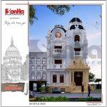5 Thiết kế phương án 2 biệt thự lâu đài pháp cổ tại sài gòn sh btld 0033