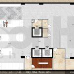 6 Mặt bằng công năng tầng hầm khách sạn 3 sao đẹp tại hải phòng sh ks 0049