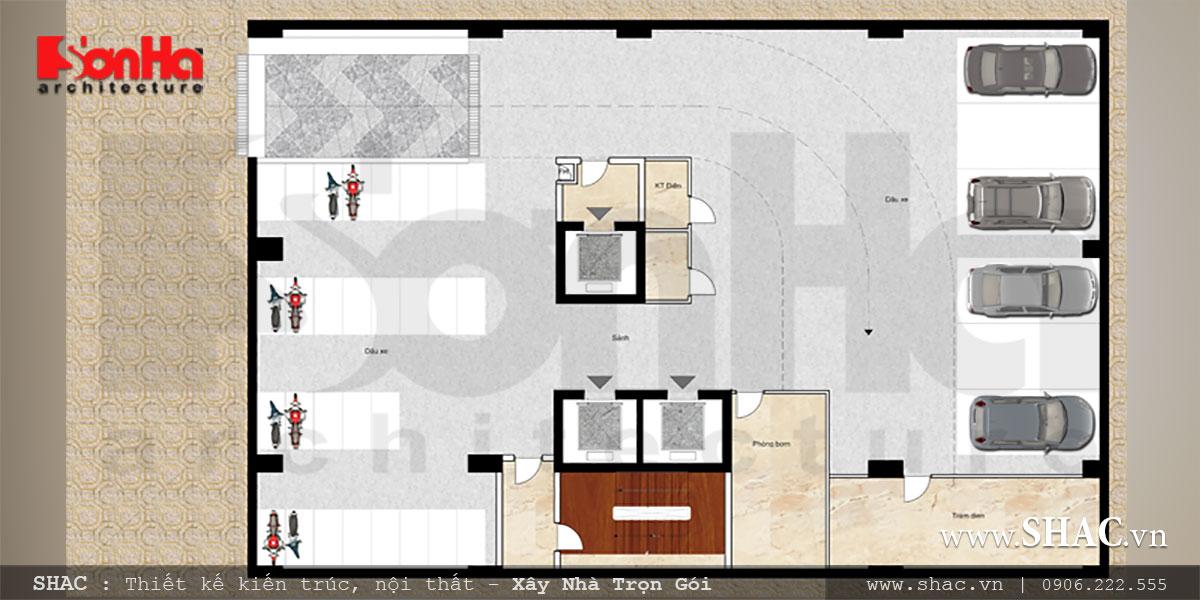 Mẫu khách sạn tiêu chuẩn 3 sao sang trọng hiện đại bậc nhất Hải Phòng – SH KS 0049 6