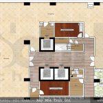 9 Mặt bằng công năng tầng 2 khách sạn 3 sao đẹp tại hải phòng sh ks 0049