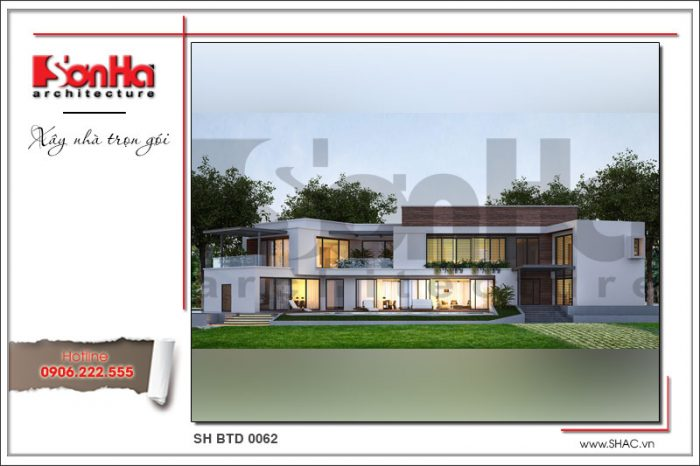 Điển hình mẫu thiết kế biệt thự phố 2 tầng hiện đại mang đến ý tưởng độc đáo và duy nhất