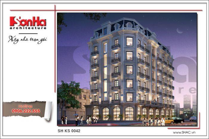 Kiến trúc ngoại thất mãn nhãn của công trình khách sạn 4 sao điển hình xu hướng mới nhất