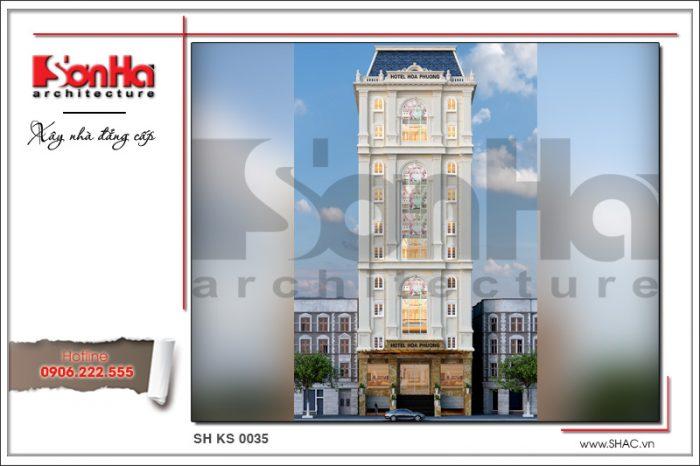 Kiến trúc sang trọng tinh tế từng tiểu tiết của mẫu thiết kế khách sạn 3 sao tại Hải Phòng