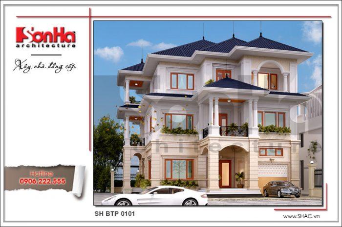 Mãn nhãn với phương án thiết kế biệt thự đẹp kiến trúc tân cổ điển thanh nhã và sang trọng