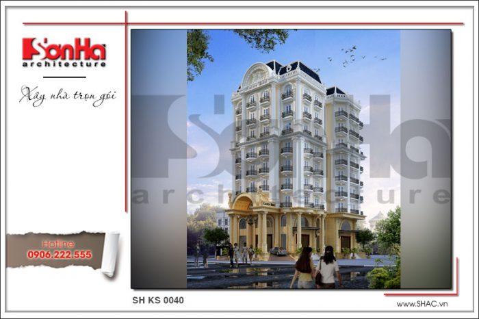 Mẫu mặt tiền đẹp của công trình khách sạn 4 sao đẳng cấp và xa hoa tại Vĩnh Yên của SHAC