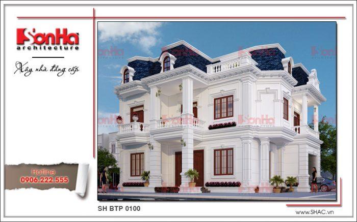 Mẫu thiết kế kiến trúc đầy màu sắc và mới mẻ của ngôi biệt thự 1 trệt 1 lầu kiểu pháp