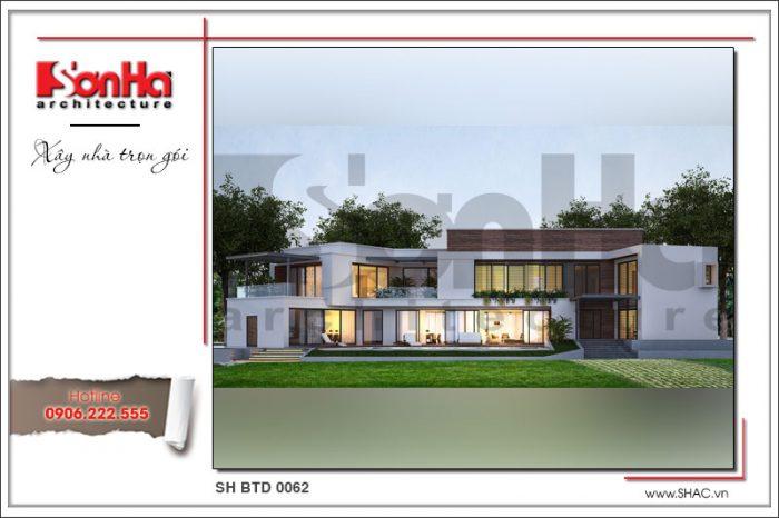 Phương án thiết kế biệt thự đẹp 1 trệt 1 lầu hiện đại thể hiện quan điểm thiết kế mới mẻ
