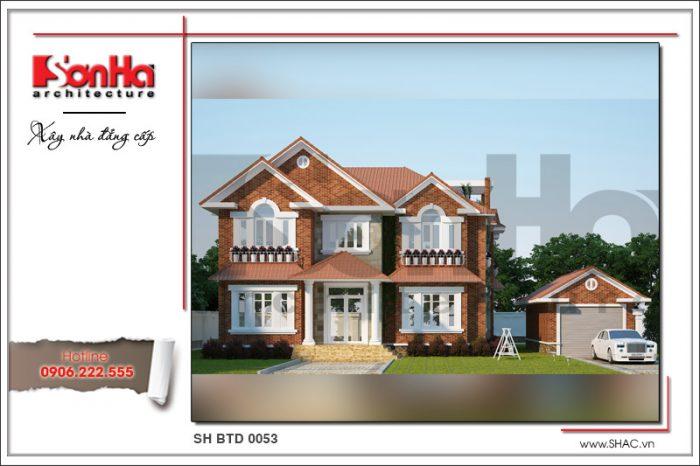 Phương án thiết kế biệt thự đẹp 2 tầng hiện đại được yêu thích và đánh giá cao từ CĐT