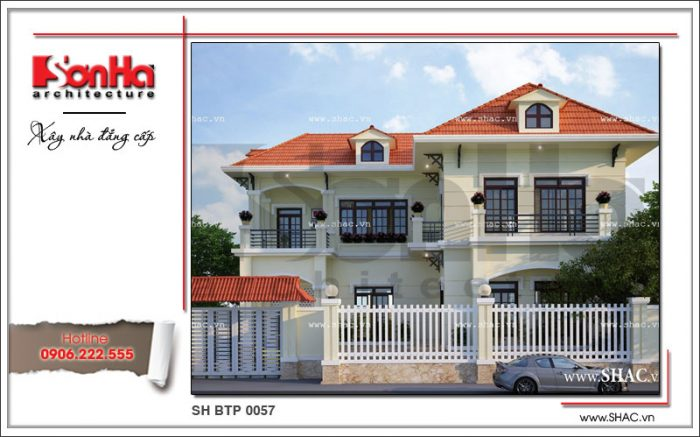 Phương án thiết kế có chiều sâu của ngôi biệt thự 1 trệt 1 lầu phong cách tân cổ điển