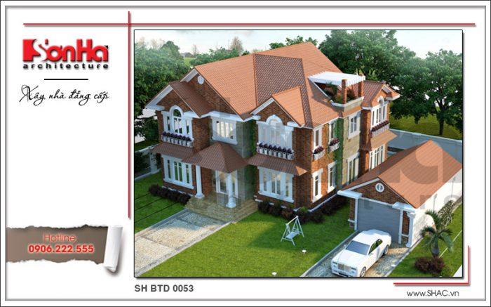 Phương án thiết kế được đánh giá cao của mẫu biệt thự mái ngói đẹp phong cách hiện đại
