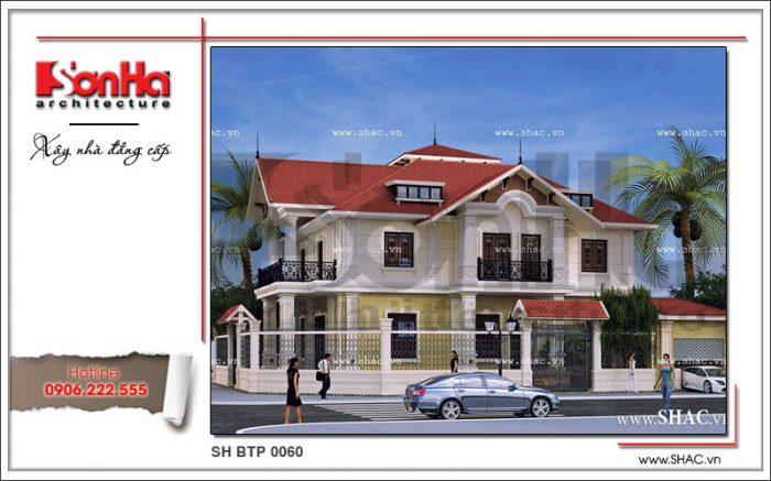 Phương án thiết kế hài hòa và cân đối của ngôi biệt thự 1 trệt 1 lầu cổ điển pháp đẹp