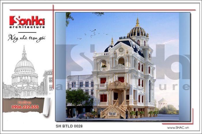 Phương án thiết kế mãn nhãn của mẫu biệt thự đẹp phong cách lâu đài cổ điển của SHAC