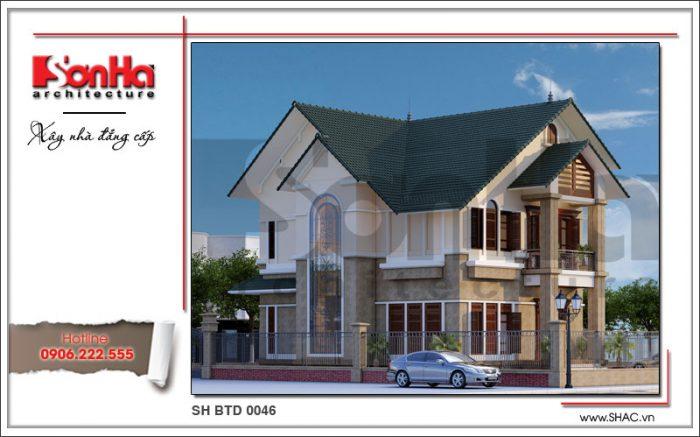 Phương án thiết kế mãn nhãn của ngôi biệt thự 2 tầng mái ngói mang lại ý tưởng độc đáo