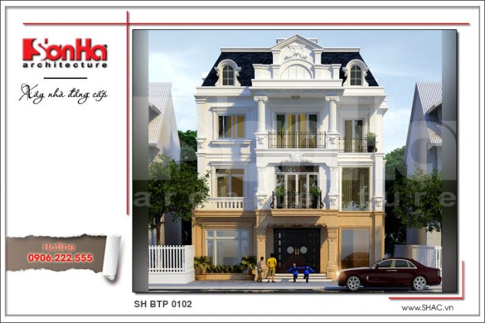 Thêm ý tưởng thiết kế xa hoa của mẫu biệt thự kiến trúc pháp điển hình biệt thự đẹp nhất
