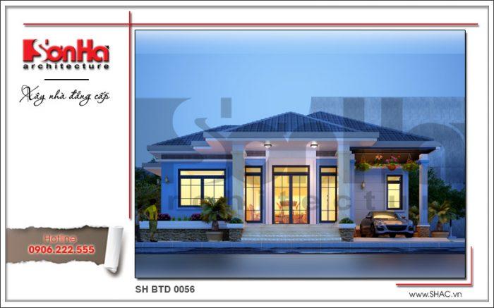 Thiết kế biệt thự 1 tầng hiện đại tại Bắc Ninh giản dị nhưng có chiều sâu được yêu thích