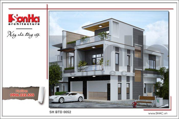 Thiết kế kiến trúc biệt thự hiện đại 3 tầng mang lại không gian sống sang trọng đẳng cấp