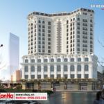 1 Thiết kế kiến trúc khách sạn tân cổ điển 4 sao tại quảng ninh sh ks 0050