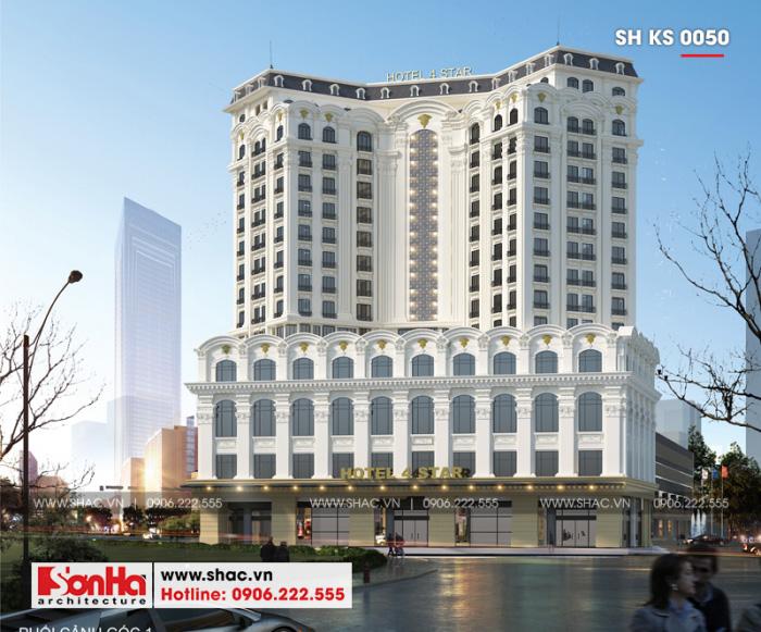 Mẫu thiết kế khách sạn 4 sao đẹp